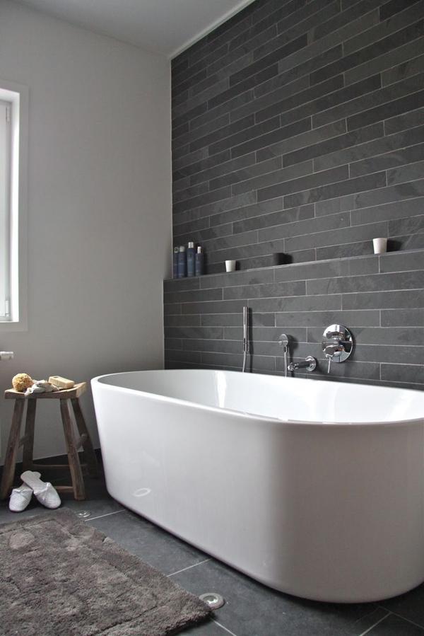 Charcoal wall tile