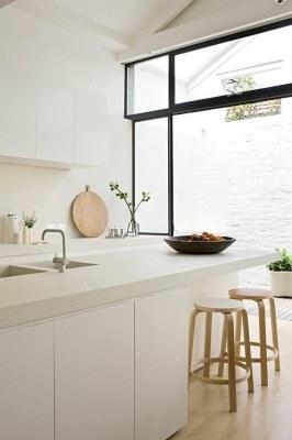 17 White Kitchen Designs Inpirations - Apartment Diet - www.designlibrary.com.au