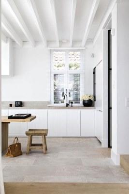 17 White Kitchen Designs Inpirations - White kitchen with timber features - www.designlibrary.com.au