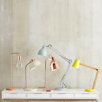 Within The Pages | DesignLibrary.com.au - Freedom - Hinged Table Lamp - Polished Copper Coloured