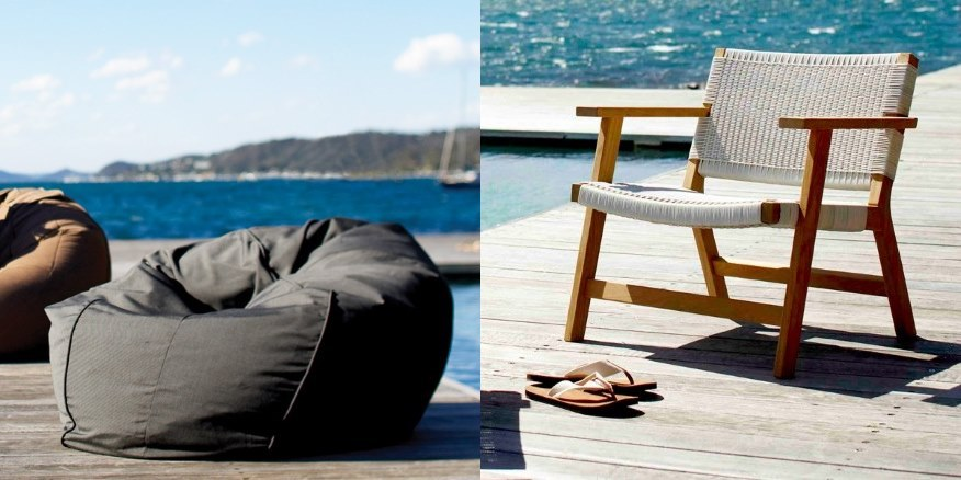10 great finds Within The Pages - Inside Out Dec 2014 | www.designlibrary.com.au - Eco Outdoor - Barwon Chair & Byron Bean Bag