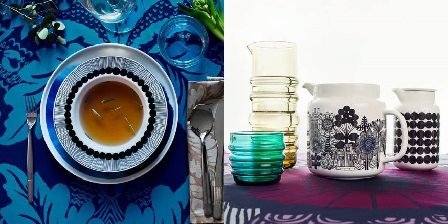 10 great finds Within The Pages - Inside Out Dec 2014 | www.designlibrary.com.au - Marimekko - Plates and Jugs