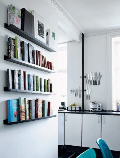 Kitchen Designs 17 Storage Solutions - Kitchen Designs Storage Solutions - A free wall to place cook books - so you use them - Femina.dk www.designlibrary.com.au -