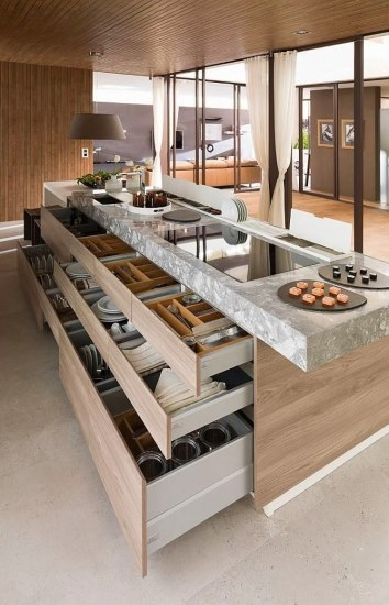 Kitchen Designs 17 Storage Solutions - Kitchen Island Bench Storage - modernmagazin.com - www.designlibrary.com.au