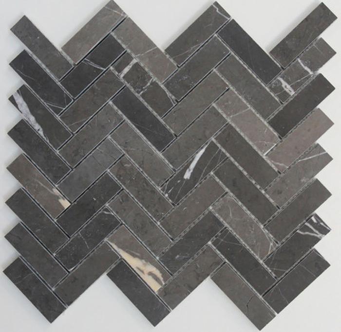 Byzantine Design Tiles - Pietra grey herringbone - Within The Pages www.designlibrary.com.au