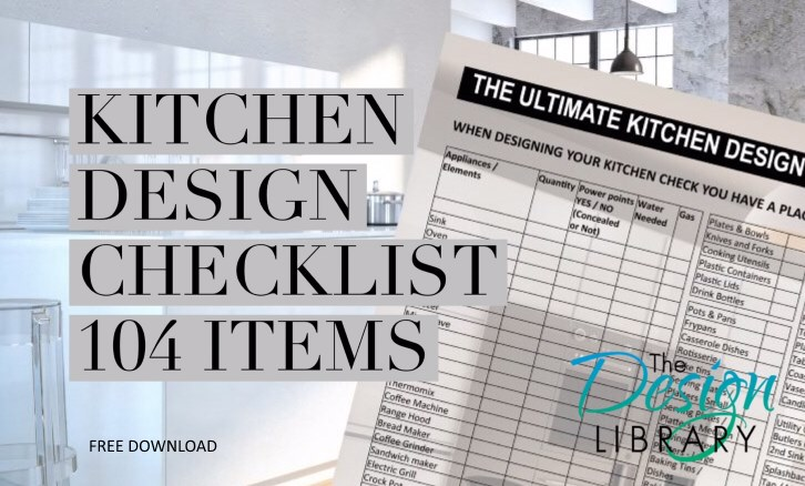 Kitchen Designs 101 Ultimate Kitchen Design Checklistdesign Library Au
